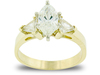 Marquise Trillium Diamond Engagement Ring
