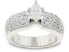 Pave Marquise Diamond Engagement Ring