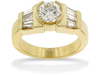 Baguette Round Diamond Engagement Ring