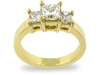 Princess Three Stone Diamond Engagement Ring
