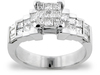 Baguette Invisible Illusion Diamond Engagement Ring