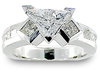 Trillium Princess Channel Diamond Engagement Ring