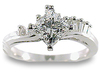 Princess Diamond Engagement Ring Set