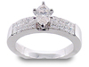 Marquise Princess Diamond Engagement Ring Set