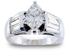 Maruise Baguette Diamond Engagement Ring