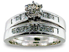 Round Princess Diamond Engagement Ring