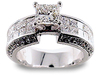 Princess Invisible Pave Diamond Engagement Ring