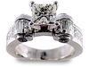 Princess Baguette Invisible Diamond Engagement Ring