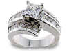 Princess Round Channel Diamond Engagement Ring
