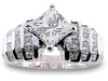 Princess Channel Diamond Engagement Ring
