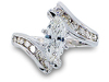 Marquise Round Diamond Engagement Ring