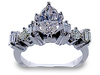 Marquise Baguette Princess Diamond Engagement Ring