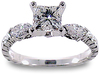Princess Marquise Diamond Engagement Ring