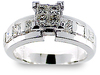 Princess Invisible Diamond Engagement Ring