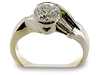 Round Baguette Channel Diamond Engagement Ring