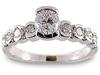 Round Semi-Bezel Diamond Engagement Ring