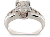 Oval Bezel Channel Diamond Engagement Ring