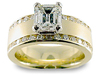 Round Emerald Cut Diamond Engagement Ring