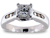 Stoning Princess Round Channel Diamond Engagement Ring